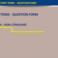 Simple Past Tense - Question Form