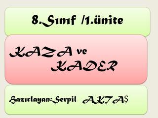 KAZA KADER