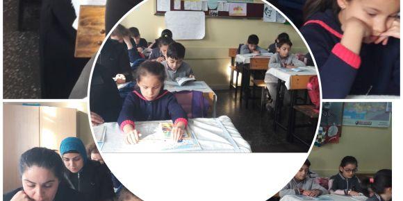Evliya Çelebi İlkokulu velileri ile birlikte okuyor