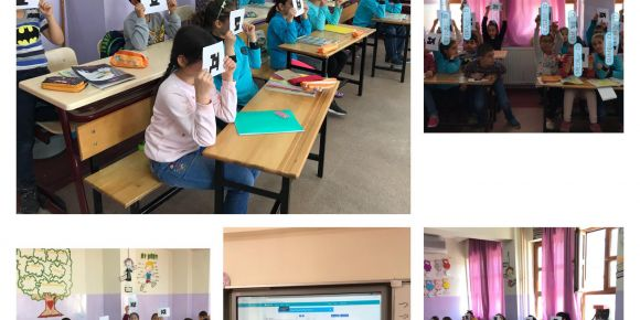 Profilo ilkokulu İngilizceyi teknolojiyle öğreniyor.