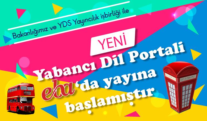 Yeni Yabancı Dil Portali EBA'da Yayına Başlamıştır.