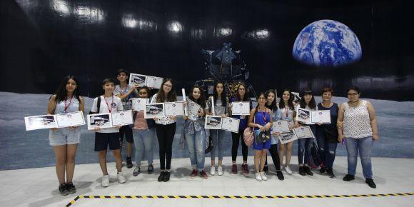 Ankara Etimesgut Erzurumlu İbrahim Hakkı Ortaokulundan İzmir Uzay Kampına katılım