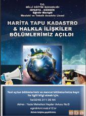 Eğirdir Mavigöl Mesleki ve Teknik Anadolu Lisesinde Yeni Alanlar Açıldı.