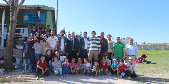 Köy okuluna bilim ve sanat sınıfı açıldı