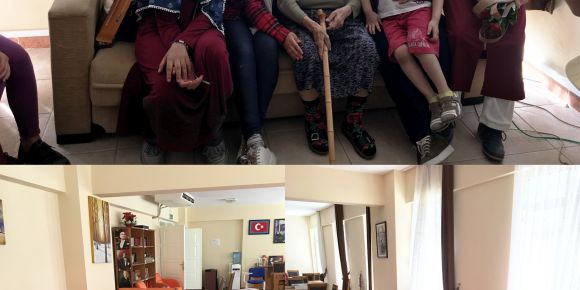 Didim İmam Hatip Ortaokulu öğrencileri Didim Huzurevi'ni ziyaret etti