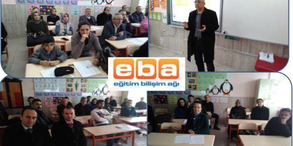 Yıldırım Üstün Üründül İlkokulu' da EBA tanıtımı yapıldı.