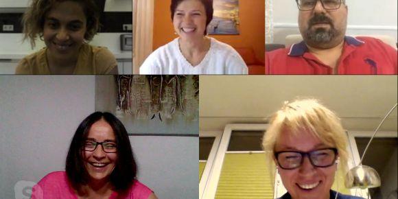 """""""Digital literacy for SEN"""" adlı eTwinning projemizin ilk online toplantısını yaptık"""