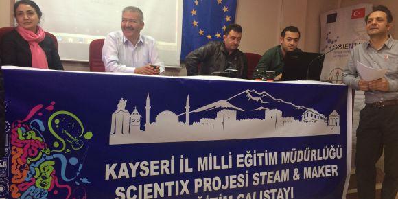 Kayseri Scientix  Steam Maker Eğitim çalıştayı