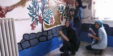 Öğrenciler okul mescidini boyuyor