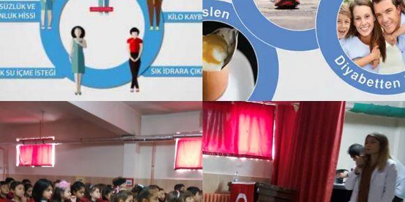 Diyabet konulu seminer ve sınıf etkinlikleri uygulandı
