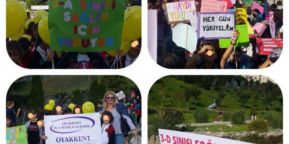 Oyakkent İlkokulu Öğrenci ve Velileri ile Sağlıcakla Kalmak için Elele Yürüyor
