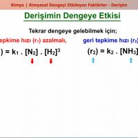 Kimyasal Dengeyi Etkileyen Faktörler - 2