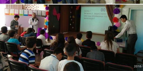 Atatürk Ortaokulu 6. sınıflar arası matematik bilgi yarışması