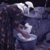 Peynir yapan kadın