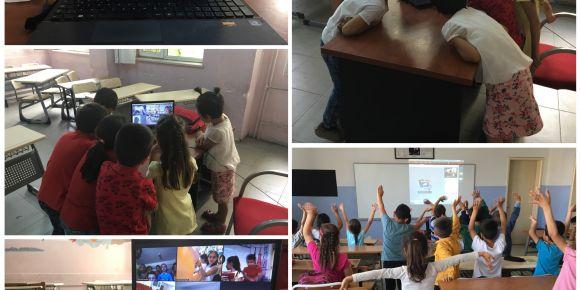 Menderes İlkokulu eTwinning HUrray! Projesi ile İlk Defa Canlı Görüşme Yaptı