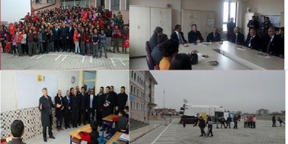 Konya Büyükşehir Belediye başkanı Tahir Akyürek okulumuzu ziyaret etti