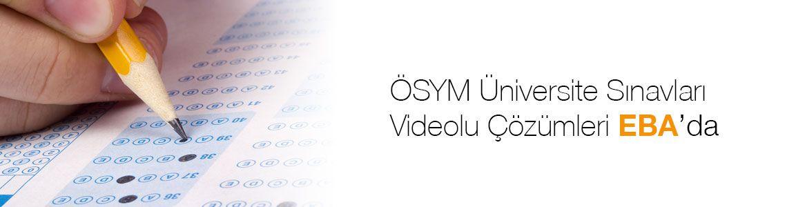 Ösym Soruları Videolu Çözümleri EBA da