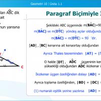 Düzlem Geometride Temel Elemanlar ve İspat Biçimleri