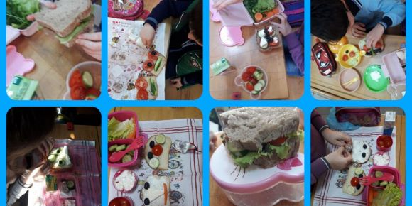 Öğrencilerimiz sağlıklı sandviç günü etkinliği yaptılar.