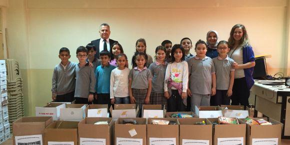 Beşbinevler Ömer Lütfü Özaytaç İlkokulu  ramazan kolisi yardım kampanyası başlattı