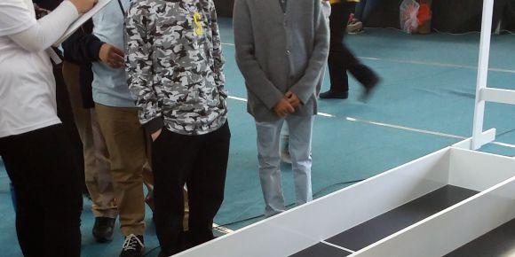 İstanbul Ticaret Odası Şehit Mustafa Gözütok Ortaokulu robot yarışmasında