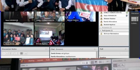 Uşak/merkez Mehmet Akif Ersoy Ortaokulu online görüşme yaptı