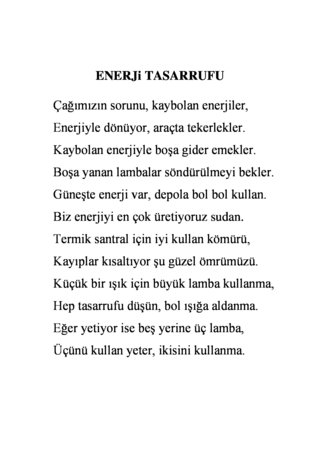 Enerji Tasarrufu