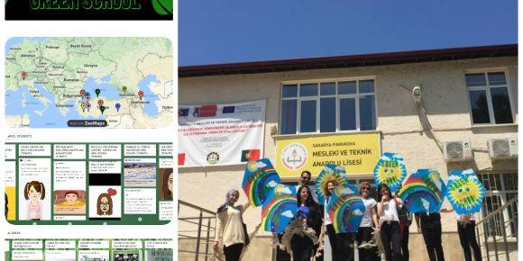 Çevre Gönüllüsü Öğrenciler Green School İle eTwinning Dünyasında