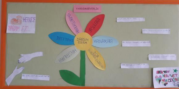 Yardımseverlik Değerler Eğitimi Pano Çalışmaları