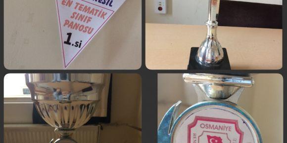 Değerler eğitimi ödül kupasını en güzel pano ile kazandılar