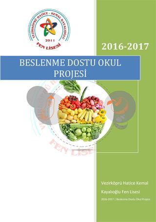 Beslenme dostu okul projesi yıllık plan ve raporlar