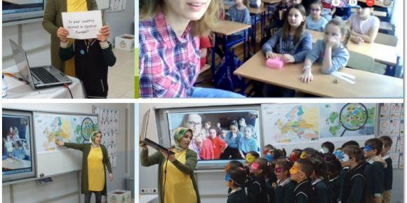 Polonyalı öğrenciler ile Türk öğrencilerin soru cevap oyunu