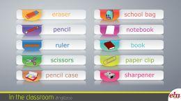 Bu infografikte classroom objects-sınıf içeresindeki nesneler ele alınmıştır.