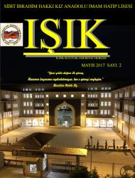 Siirt İbrahim Hakkı Kız Anadolu İmam Hatip Lisesi Okul Dergisi