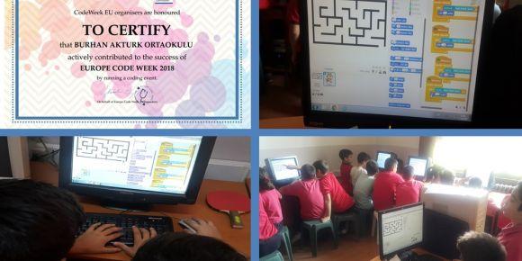 İZMİR-Tire Şehit Burhan Aktürk Ortaokulu CodeWeek Etkinlikleri