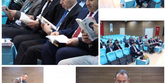 Korgan İlçe Milli Eğitim Müdürler Kurul Toplantısında Kitaplar 5N1K Okundu
