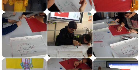 Türk Bayrağı çizdik