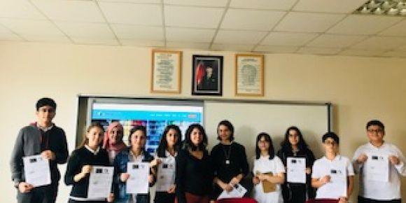 Ülkün Yalçın Anadolu Lisesi uluslararası E twinning projesinde