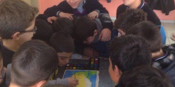 5.Sınıf öğrencilerinden kabartma harita