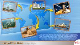 Çeşitli ülkelerde bulunan ortak miras ögelerine örnekler verir.