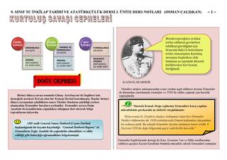 8. sınıf İnkılap Tarihi 3. Ünite Ders Notları 2018-2019