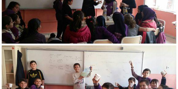 Fatih Sultan Mehmet İmam Hatip Ortaokulu öğrencileri matematiği yaşamla ilişkilendiriyor