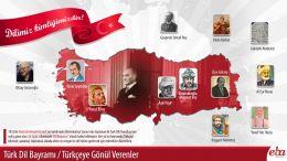 Türk Dil Bayramı konulu infografik çalışma.