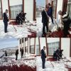 Okulumuzun Çatısında Biriken Karı Temizledik