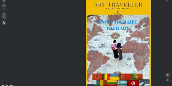 Enjoy your life with art, e-Twinning projemizde ortaklarımız ile e-dergi hazırladık.