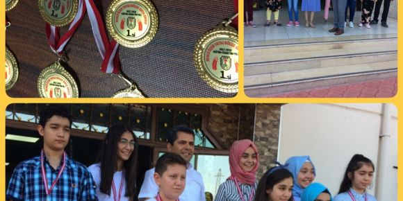 Remzi Özer Yatılı Bölge Ortaokulu öğrencileri karnelerini ödüllerle aldılar