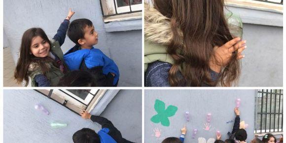 Balonlar duvarda deneyi