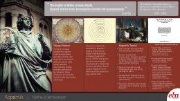 Bilim insanı Kopernik'in hayatı ve bilim tarihine kazandırdıklarını anlatan infografik çalışması.