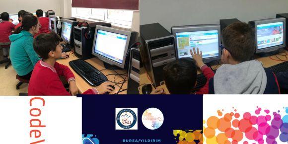 Peyami Safa Ortaokulu Avrupa Kod Haftası'nda(Codeweek) kodluyor