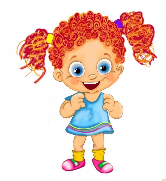 Kız Çocuk Karakter Çizimi